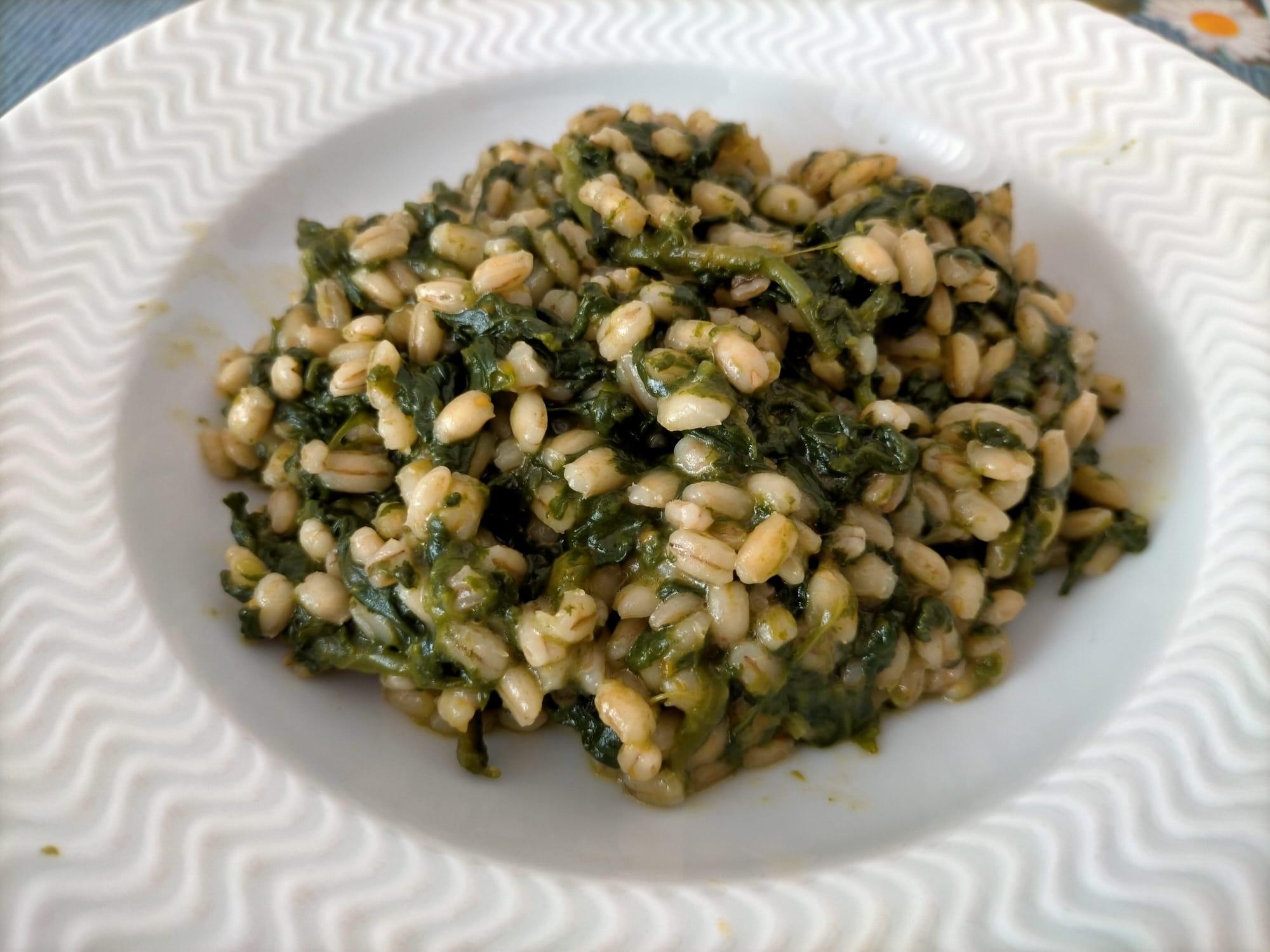 orzo risottato agli spinaci