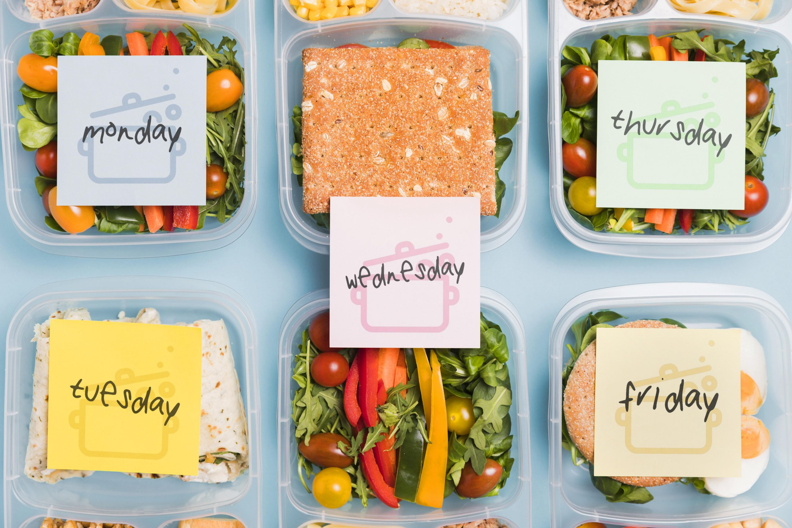 pianificare i pasti della settimana